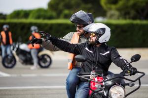 PERMIS MOTO - Cours de 2h de plateau niveau 1
