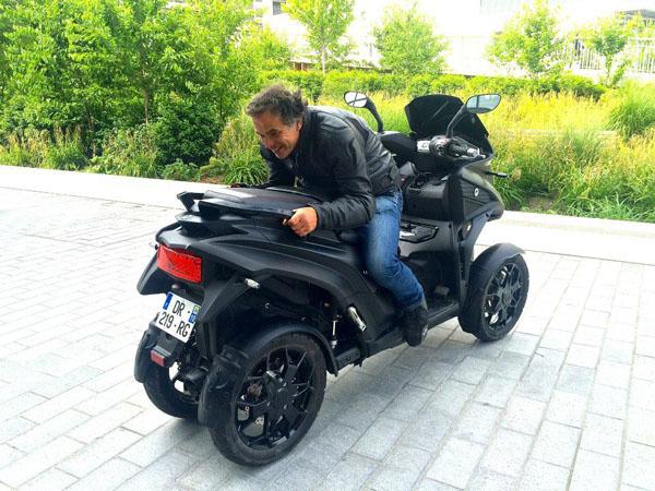 Essai 4 roues Quadro pour TF1 Automoto Philippe Monneret 9